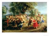 A Peasant Dance  1636-40