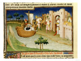 Marco Polo with Elephants and Camels Arriving at Hormuz on the Gulf of Persia from India