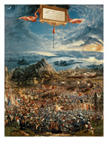 The Battle of Issus  or the Victory of Alexander the Great  1529 (Oil on Panel)