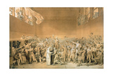 The Oath of the Tennis Court  20 June 1789  1791 (Grisaille Sketch)