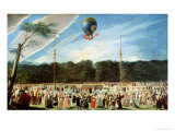 The Ascent of the Montgolfier Balloon at Aranjuez  circa 1764