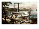 Loading Cotton on the Mississippi  1870