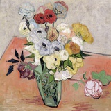 Roses and Anemones  c1890
