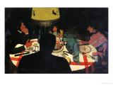 Dinner by Lamplight  1899