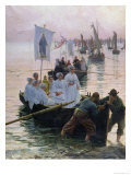The Arrival of the Procession of St Anne from Fouesnant to Concarneau  1887
