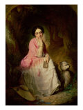 Woman Seated in a Forest Glade