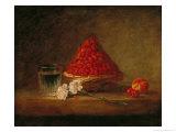 Basket with Wild Strawberries  circa 1761