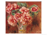Roses in a Vase  circa 1890