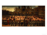 Procession in St Mark's Square  1496