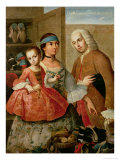 A Spaniard  His Mexican Indian Wife and Child  from a Series on Mixed Race Marriages in Mexico