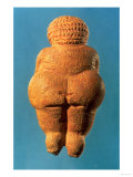 The Venus of Willendorf  Rear View of Female Figurine  Gravettian Culture Upper Palaeolithic Period