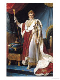 Napoleon I in His Coronation Robe  circa 1804