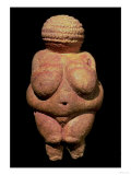 The Venus of Willendorf  Fertility Symbol  Pre-Historic Sculpture  30000-25000 BC (Front View)