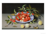 Still Life of Cherries and Peaches