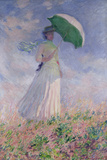 Woman with a Parasol Turned to the Right, 1886 Reproduction d'art par Claude Monet