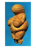 The Venus of Willendorf  Side View of Female Figurine  Gravettian Culture Upper Palaeolithic Period