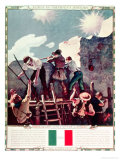 The Last Stand at the Alamo  6th March 1836 (Illustration)