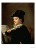 Portrait of Marianito Goya  Grandson of the Artist  circa 1815