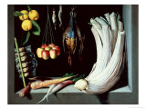 Still Life with Dead Birds  Fruit and Vegetables  1602