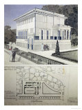 Villa Wagner  Vienna  Design Showing the Exterior of the House  Built of Steel and Concrete 1913