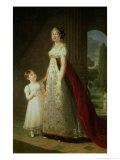 Maria Carolina Bonaparte (1782-1839) Queen of Naples with Her Daughter Laetitia Murat  1807