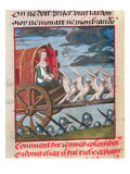 Venus Comes to the Rescue on a Chariot Drawn by Six White Doves  Bruges  circa 1487-95