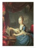 Archduchess Marie Antoinette Habsburg-Lothringen (1755-93) at the Spinnet