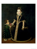 Girl with a Dwarf  Thought to be a Portrait of Margarita of Savoy