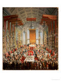 Coronation Banquet of Joseph II in Frankfurt  1764