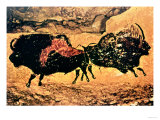 Rock Painting of Bison  circa 17000 BC