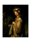 Saskia as Flora  1634