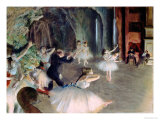 The Rehearsal of the Ballet on Stage  circa 1878-79