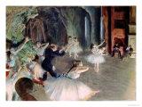 La répétition d'un ballet sur scène, 1878-79 Giclée par Edgar Degas