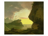 Sunset on the Coast Near Naples  circa 1785-90