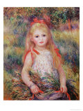 Little Girl Carrying Flowers  or the Little Gleaner  1888