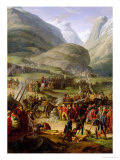 The French Army Travelling over the St Bernard Pass at Bourg St Pierre  20th May 1800  1806