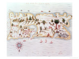 Map of the Island of Puerto Rico  1599