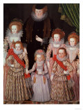 The Tasburgh Group: Lettice Cressy  Lady Tasburgh of Bodney  Norfolk and Her Children  circa 1605