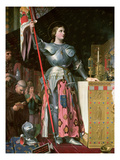 Joan of Arc (1412-31) at the Coronation of King Charles Vii (1403-61) 17th July 1429  1854