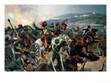 Battle of Balaclava  25th October 1854  Relief of the Light Brigade (Colour Print)