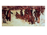 Baron Von Steuben Drilling American Recruits at Valley Forge in 1778  1911 (Oil on Canvas)