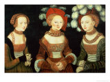 Three Princesses of Saxony  Sibylla (1515-92)  Emilia (1516-91) and Sidonia (1518-75)