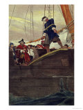 Walking the Plank  Engraved by Anderson