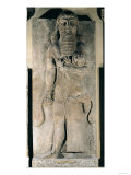 The Hero Gilgamesh Holding a Lion That He Has Captured  Stone Relief from the Palace of Sargon II