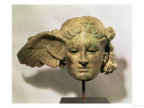 Head of Hypnos  or Sleep  an Auxiliary of Hades  Represented as a Winged Youth