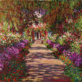 A Pathway in Monet&#39;s Garden  Giverny  1902