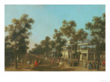 Vauxhall Gardens: the Grand Walk  circa 1751