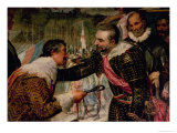 The Surrender of Breda (1625)  Detail of Justin De Nassau Handing the Keys over to Ambroise Spinola