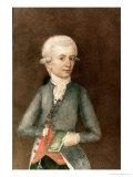Wolfgang Amadeus Mozart  circa 1780 (Miniature) (Gouache  Tempera  Parchment)
