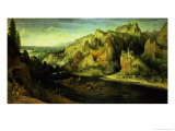 Mountain Landscape with a Surprise Attack  circa 1585